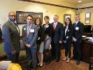 The CCAC All-PA Academic team meeting with Senator Jim Brewster.