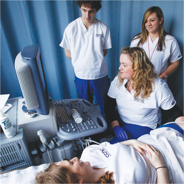 ultrasound students