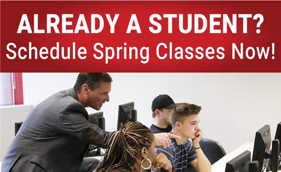 Already a Student? Schedule Spring Classes now!